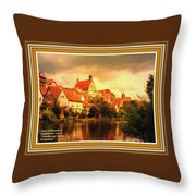 Landscape Scene - Germany L A With Decorative Ornate Printed Frame. Throw Pillow