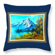 Landscape Scene Near Virginiahurst L A With Alt. Decorative Ornate Printed Frame. Throw Pillow