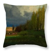 Landscape Study Throw Pillow