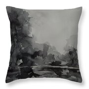 Landscape Value Study Throw Pillow
