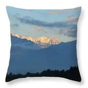 Landscape View Of The Dolomite Mountains In Northern Italy Throw Pillow