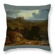 Landscape With A Castle Throw Pillow