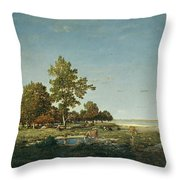 Landscape With A Clump Of Trees Throw Pillow
