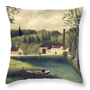 Landscape With A Fisherman Throw Pillow