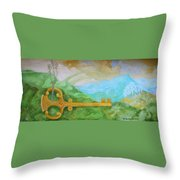 Landscape With A Key Throw Pillow