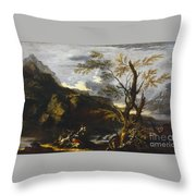 Landscape With A Lake Throw Pillow