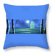 Landscape With A Moon Throw Pillow