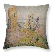 Landscape With A Ruined Castle  Throw Pillow by Paul Signac