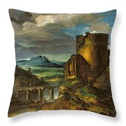 Landscape With A Tomb  Throw Pillow by Theodore Gericault
