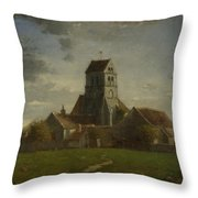 Landscape With Buildings Throw Pillow