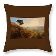 Landscape With Classical Ruins Throw Pillow