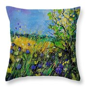 Landscape With Cornflowers 459060 Throw Pillow