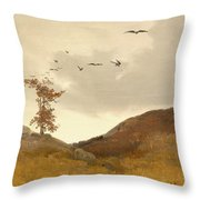 Landscape With Crows  Throw Pillow
