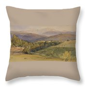 landscape with Lochnagar in the distance Throw Pillow