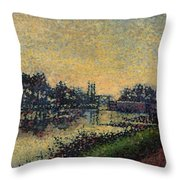 Landscape With Lock 1886 Throw Pillow