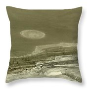 Landscape With Moon Throw Pillow