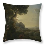 Landscape With Narcissus And Echo Throw Pillow
