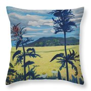 Landscape With Nettles Throw Pillow