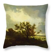 Landscape With Oaktree Throw Pillow