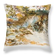 Landscape With Palmettos Throw Pillow
