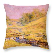 Landscape With Stream Throw Pillow