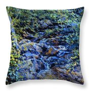 Landscape With Waterfall 1890 Throw Pillow