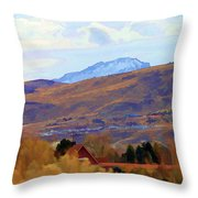 Landscape Wyoming State  Throw Pillow