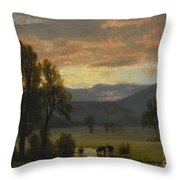 Landscape_with_cattle Throw Pillow