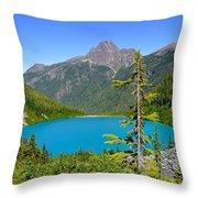 Landslide Lake Throw Pillow