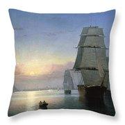 Lane: Boston Harbor Throw Pillow