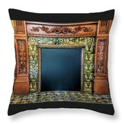 Lane-hooven House Antique Fireplace Throw Pillow