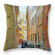 Lane Kiss Throw Pillow