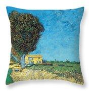 Lane Near Arles Throw Pillow