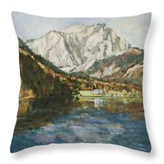 Langbathsee Austria Throw Pillow