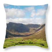 Langdale Fell And Pikes Panorama Throw Pillow