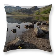 Langdale Pikes And Blea Tarn Throw Pillow