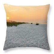 Langdon Beach Sunrise 5 - Pensacola Beach Florida Throw Pillow