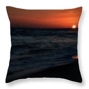 Langdon Beach Sunset Throw Pillow