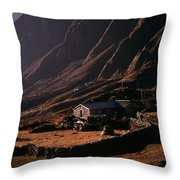 Langtang Village Throw Pillow