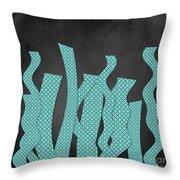 Languettes 02 - Aqua Throw Pillow