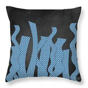 Languettes 02 - Blue Throw Pillow