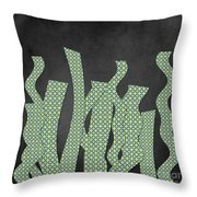 Languettes 02 - Lime Throw Pillow