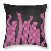 Languettes 02 - Pink Throw Pillow