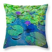 Languid Lagoon Throw Pillow