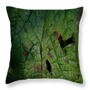 Languid Leaf Throw Pillow