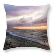 Laniakea Beach Sunset Throw Pillow