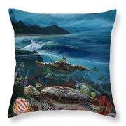 Laniakea Line Up Throw Pillow