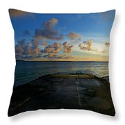 Lanikai At Sunrise Throw Pillow
