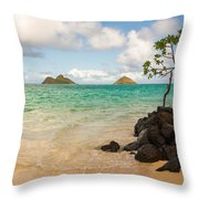 Lanikai Beach 1 - Oahu Hawaii Throw Pillow
