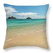 Lanikai Beach 4 - Oahu Hawaii Throw Pillow